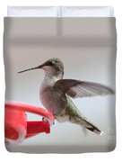 Hummingbird With Wings Back Duvet Cover