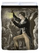 Humphry Davy, English Chemist Duvet Cover