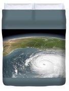 Hurricane Rita Duvet Cover