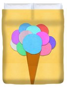 Ice Cream On Hand Made Paper Duvet Cover