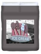 Ice Cream Sign Duvet Cover