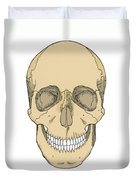 Illustration Of Anterior Skull Duvet Cover