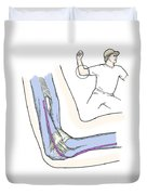 Illustration Of Elbow Ligaments Duvet Cover