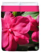 Impatiens Named Dazzler Burgundy Duvet Cover