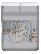 Ironwood In The Snow Duvet Cover