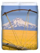 Irrigation Pipe In Wheat Field With Duvet Cover