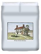 Isaac Newton Birthplace Duvet Cover