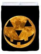Jack-o-lantern Moon Duvet Cover