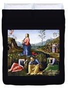 Jesus: Agony In The Garden Duvet Cover