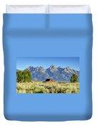 John Moulton Barn - Grand Teton National Park Duvet Cover