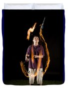 Juggling Fire Duvet Cover