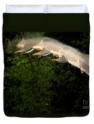 Jumping Gray Squirrel Duvet Cover