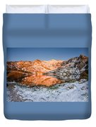 June Snowfall At Angel Lake Duvet Cover