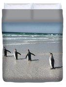 King Penguin Aptenodytes Patagonicus Duvet Cover