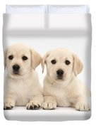 Labrador Retriever Puppies Duvet Cover