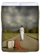 Lady On The Road Duvet Cover