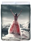 Lady On The Rocks Duvet Cover by Joana Kruse