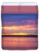 Lagerman Reservoir Sunrise Duvet Cover