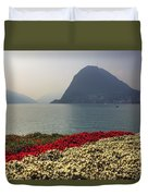 Lake Lugano - Monte Salvatore Duvet Cover by Joana Kruse