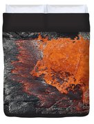 Lava Bursting At Edge Of Active Lava Duvet Cover