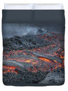 Lava Flow On The Flank Of Pacaya Duvet Cover