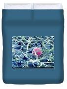 Lavender Leaf Duvet Cover by Ted Kinsman
