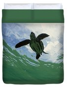 Leatherback Sea Turtle Dermochelys Duvet Cover