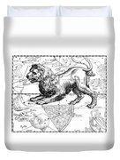 Leo, The Hevelius Firmamentum, 1690 Duvet Cover by Science Source