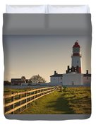 Lighthouse South Shields, Tyne And Duvet Cover