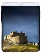 Lindisfarne Castle On A Volcanic Mound Duvet Cover