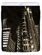 Lloyds Building London In Gold Duvet Cover