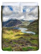 Llyn Idwal Lake Duvet Cover by Adrian Evans