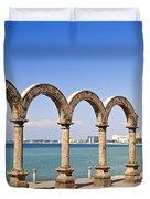 Los Arcos Amphitheater In Puerto Vallarta Duvet Cover
