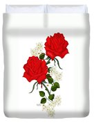 Love Is Like A Red Red Rose Duvet Cover
