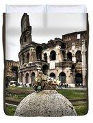 love locks in Rome Duvet Cover