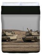 M1 Abrams Tank At Camp Warhorse Duvet Cover