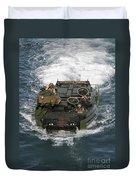 Marines Navigate An Amphibious Assault Duvet Cover