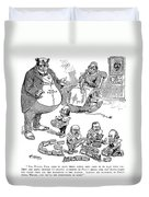 Mckinley Cartoon, 1900 Duvet Cover