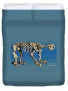Megatherium Extinct Ground Sloth Duvet Cover by Science Source