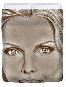 Michelle Pfeiffer In 2010 Duvet Cover by J McCombie