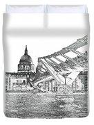 Millenium Bridge And St Pauls Duvet Cover