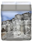 Minoan Eruption Deposits, Mavromatis Duvet Cover