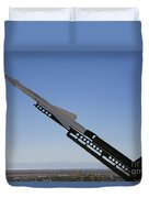 Missile On Display At Alamogordo Space Duvet Cover