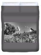 Mission San Diego De Alcala Monochrome Duvet Cover