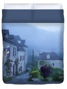 Misty Dawn In Saint Cirq Lapopie Duvet Cover