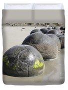 Moeraki Boulders, Koekohe Beach, New Duvet Cover