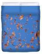 Monarch Danaus Plexippus Butterflies Duvet Cover