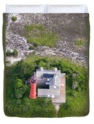 Monomoy Light At Monomoy Wildlife Refuge In Chatham On Cape Cod Duvet Cover