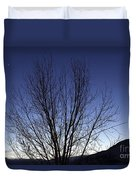 Moon And Venus Conjunction Duvet Cover