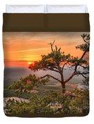 Moore's Knob Sunset Duvet Cover